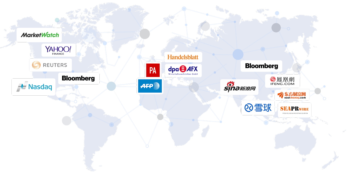 Newswire world map | EQS Group