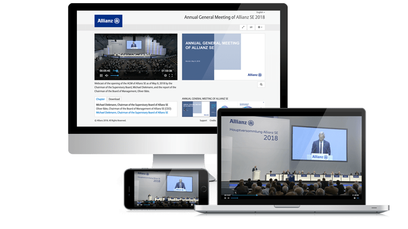 Example video webcast Allianz | EQS Group
